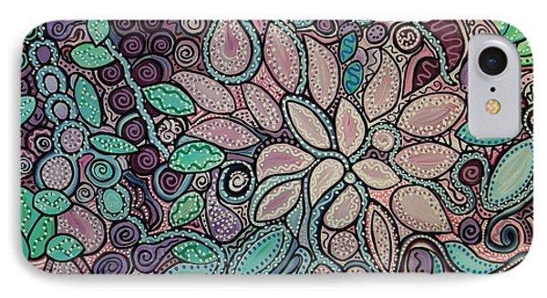 Polka Dot Flowers IPhone Case by Barbara St Jean