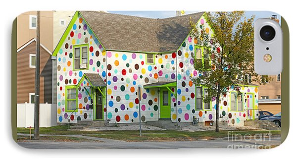 IPhone Case featuring the photograph Polka Dot House by Steve Augustin