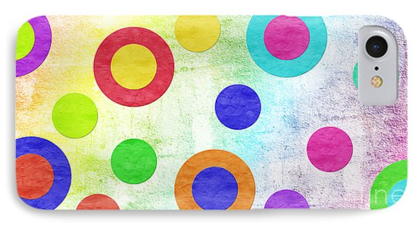Polka Dot Panorama - Rainbow - Circles - Shapes Phone Case by Andee Design