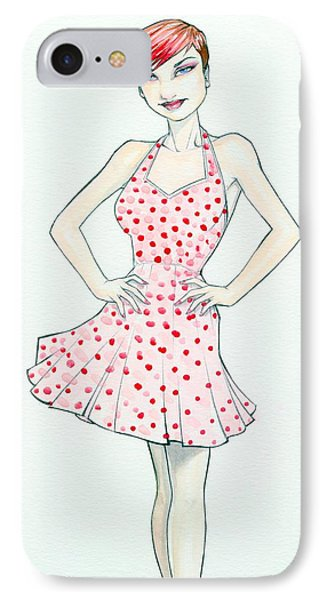 Polka Dot Pink IPhone Case by Jimmy Adams