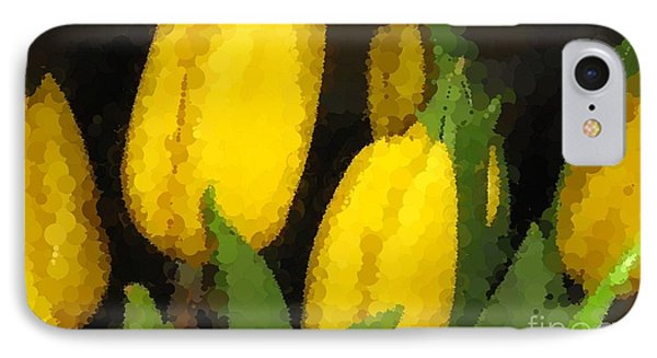 Polka Dot Yellow Tulips Phone Case by Barbara Griffin
