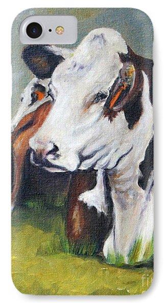 Polled Hereford Heifer IPhone Case