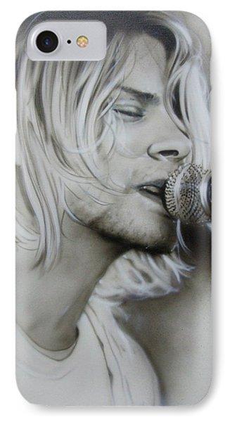 Kurt Cobain - ' Polly ' IPhone Case by Christian Chapman Art