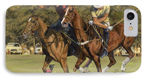 Polo Match IPhone Case by Don  Langeneckert