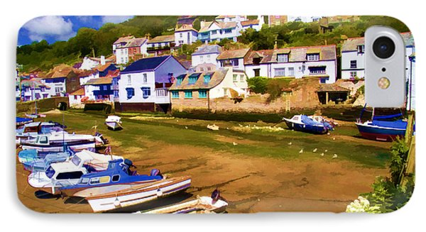 Polperro At Low Tide Phone Case by David Smith