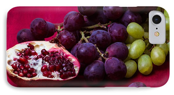 Pomegranate And Green And Red Grapes Phone Case by Alexander Senin