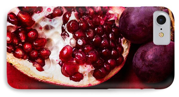 Pomegranate And Red Grapes Phone Case by Alexander Senin