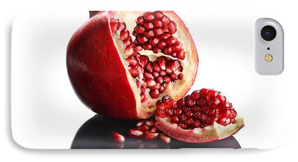 Pomegranate Opened Up On Reflective Surface Phone Case by Johan Swanepoel