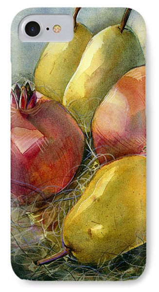 Pomegranates And Pears IPhone Case by Jen Norton