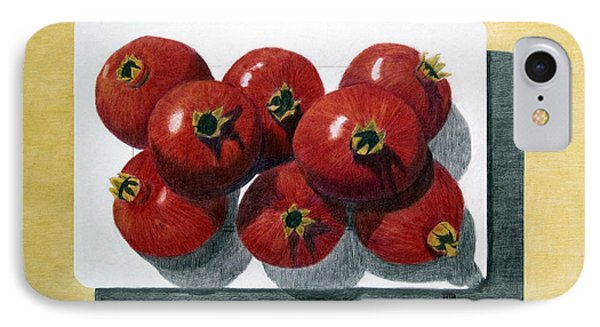 Pomegranates On A Plate IPhone Case