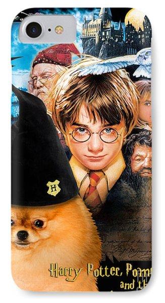 Pomeranian Art Canvas Print - Harry Potter Movie Poster IPhone Case