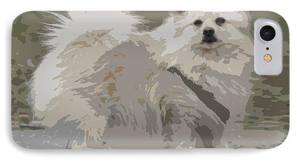 Pomeranian Dog Phone Case by Jivko Nakev