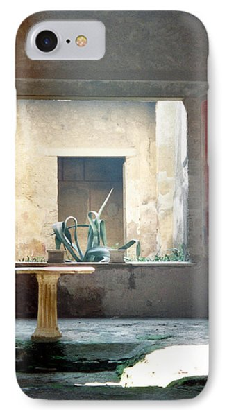 Pompeii Courtyard IPhone Case by Marna Edwards Flavell