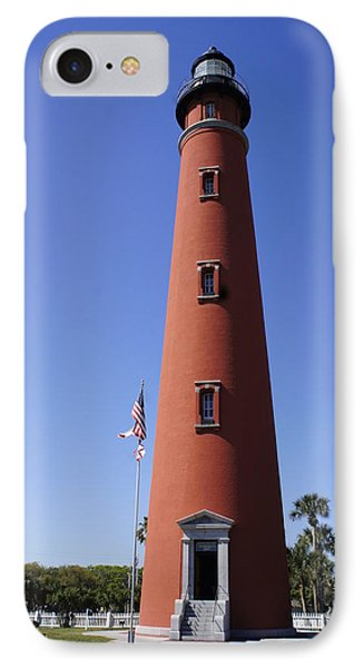 IPhone Case featuring the photograph Ponce Inlet Lighthouse by Laurie Perry
