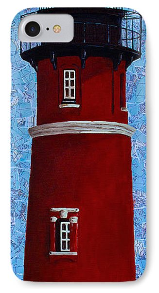 IPhone Case featuring the mixed media Ponce Inlet Lighthouse by Melissa Sherbon