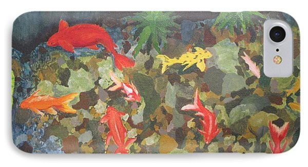 IPhone Case featuring the painting Pond Fish by Hilda and Jose Garrancho