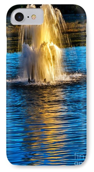 Pond Fountain Phone Case by Robert Bales