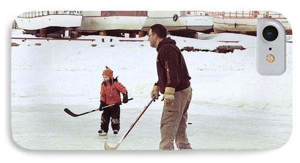 Pond Hockey IPhone Case by Lisa Killins