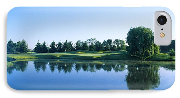Pond In A Golf Course, Rich Harvest IPhone Case by Panoramic Images