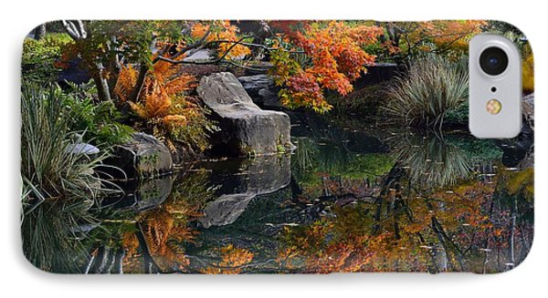 Pond In Autumn IPhone Case