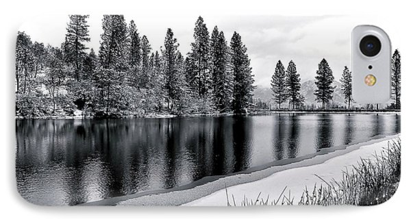 IPhone Case featuring the photograph Pond In Snow by Julia Hassett