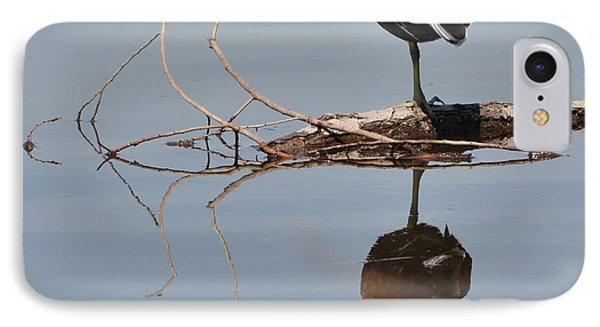 IPhone Case featuring the photograph Pond Reflection by Debby Pueschel