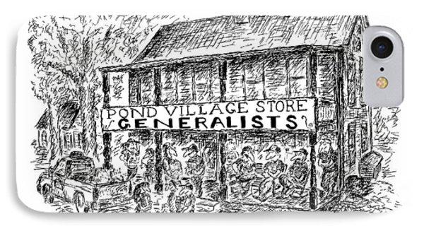 Pond Village Store Generalists IPhone Case by Edward Koren