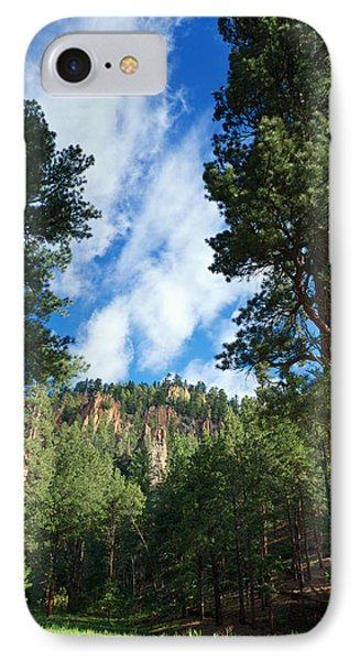 Ponderosa And Cliffs In The Jemez Mountains New Mexico IPhone Case