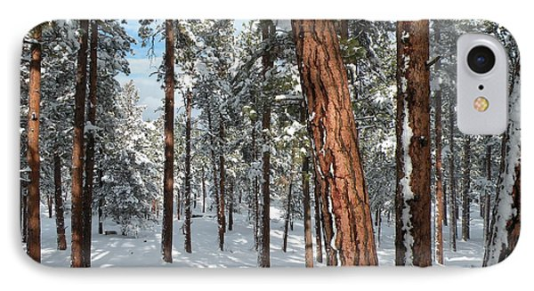 IPhone Case featuring the painting Ponderosa Winter by Jennifer Lake