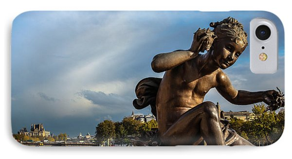 IPhone Case featuring the photograph Pont Alexandre IIi by Glenn DiPaola