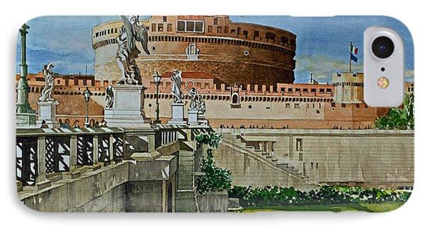 Pont Sant'angelo Bridge And Castle IPhone Case