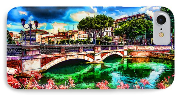 IPhone Case featuring the photograph Ponte San Martino Treviso Italy by Jack Torcello