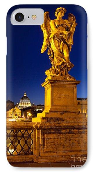 Ponte Sant Angelo IPhone Case by Brian Jannsen