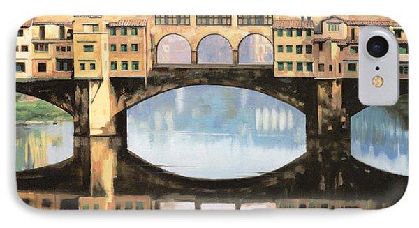 Ponte Vecchio A Firenze Phone Case by Guido Borelli