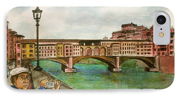 Ponte Vecchio Florence Italy IPhone Case by Frank Hunter