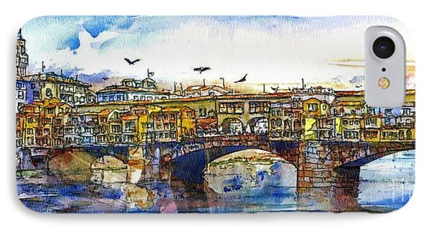 Ponte Vecchio IPhone Case by Randy Sprout