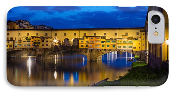 Ponte Vecchio Reflection IPhone Case by Inge Johnsson
