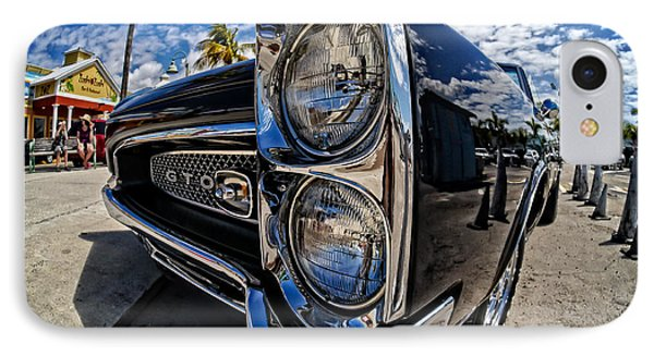 Pontiac Gto Convertible Ft Myers Beach Florida Phone Case by Edward Fielding