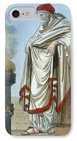 Pontifex Maximus, Illustration IPhone Case by Jacques Grasset de Saint-Sauveur