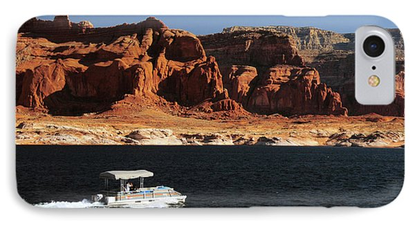 Pontoon Boat On Lake Powell, Glen IPhone Case