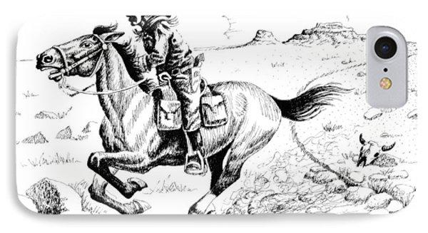 Pony Express Rider IPhone Case