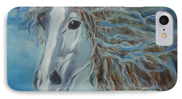 IPhone Case featuring the painting Pony by Jenny Lee