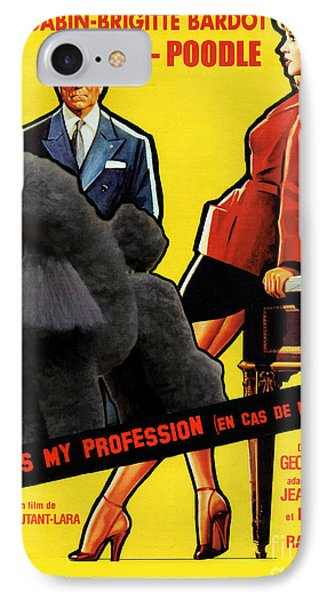 Poodle  Art - Love Is My Profession IPhone Case