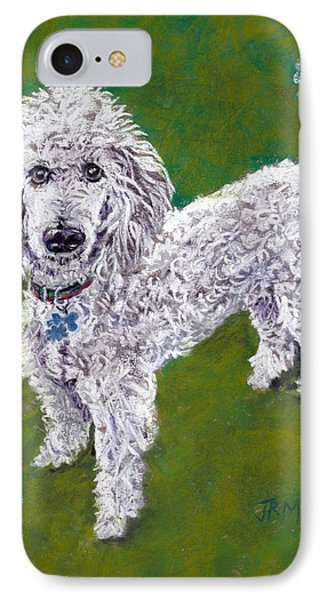 IPhone Case featuring the pastel Poodle Pal by Julie Maas