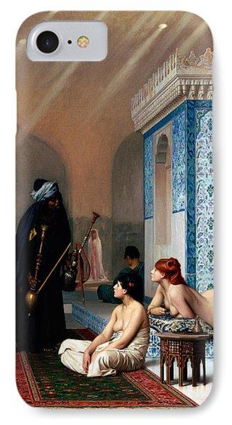 Pool In A Harem Phone Case by Munir Alawi