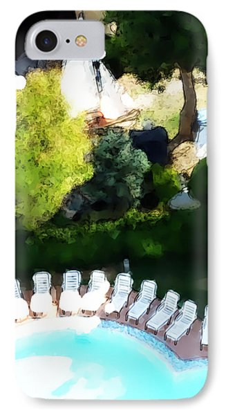 IPhone Case featuring the painting Pool - Piscina by Ze  Di