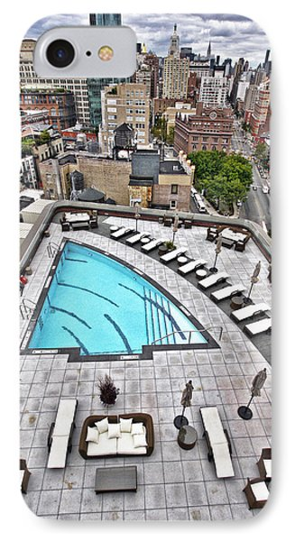 Pool With A View IPhone Case by Steve Sahm