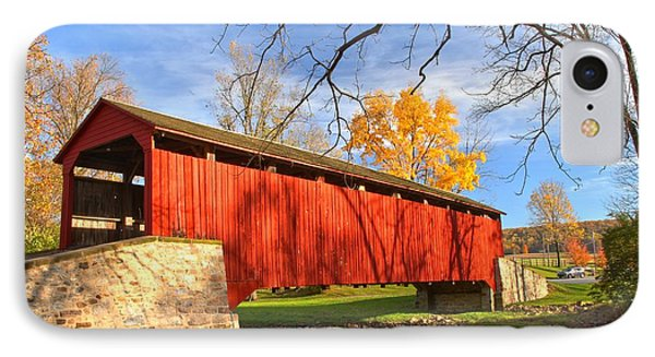 Poole Forge Covered Bridge - Lancaster County IPhone Case