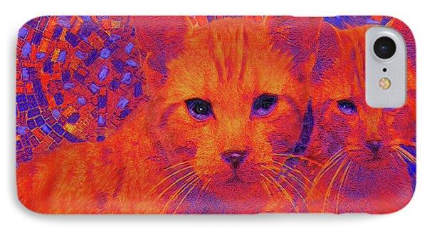 Pop Art Cats Phone Case by Jane Schnetlage