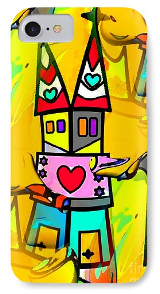 IPhone Case featuring the digital art Pop-art Dom By Nico Bielow by Nico Bielow